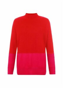 Cydney Cashmere Sweater Pink Red L