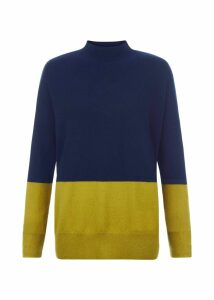 Cydney Cashmere Sweater Navy Green