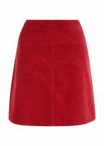 Hannah Corduroy Skirt Red