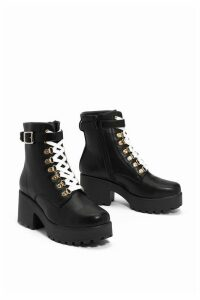 Womens Give 'Em The Boot Chunky Boot - Black - 8, Black