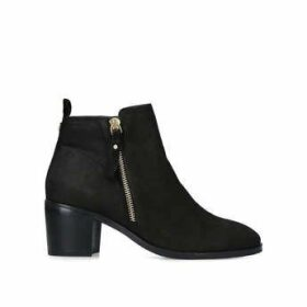 Womens Charm Low Heel Ankle Boots Nine West Black, 5.5 UK