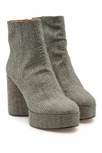 Robert Clergerie Belent Houndstooth Platform Ankle Boots