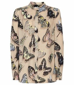Reiss Nouela - Butterfly Printed Shirt in Multi, Womens, Size 14