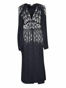 The Attico V-neck Embellished Long Dress