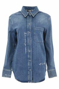 Stella McCartney Denim Shirt With Embroidered Writing