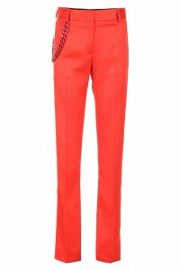 MSGM Trousers With Side Bands