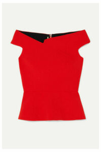 Roland Mouret - Elmswell Off-the-shoulder Crepe Top - Red