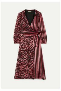 Alice + Olivia - Abigail Devoré Silk-blend Chiffon Wrap Dress - Pink