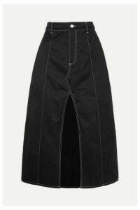 Georgia Alice - Slouch Cotton-drill Midi Skirt - Black