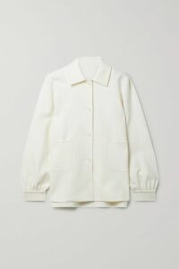 FRAME - Pleated Leather Shorts - Black