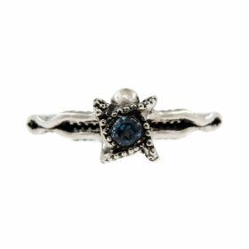 Lee Renee - Octopus Blue Topaz Ring Silver