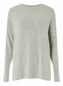 Womens **Tall Grey Split Jumper- Grey, Grey