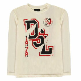 Diesel Tarlix Long Sleeve T Shirt - Treat White 101