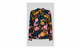 Digital Bloom Print Blouse