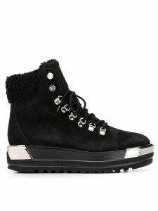 Baldinini lace-up flatform boots - Black