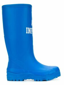 UNDERCOVER slogan waterproof boots - Blue