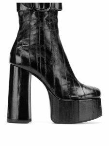 Saint Laurent round toe boots - Black