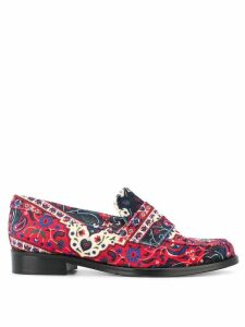 Leandra Medine patterned loafers - Multicolour