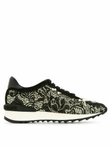 Casadei pearl lace sneakers - Black