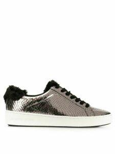 Michael Michael Kors snakeskin effect low-top sneakers - Metallic