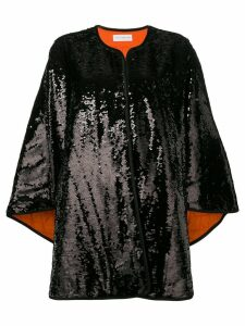 Faith Connexion sequin cape coat - Black