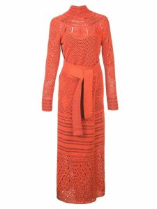 Proenza Schouler Crochet Crewneck Dress - Orange