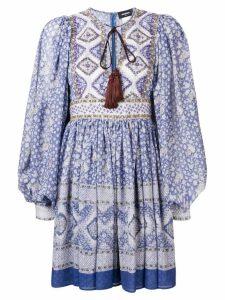 Dsquared2 printed mini dress - Blue