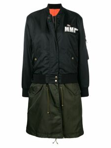 Mr & Mrs Italy Embroidery Clark Ross bomber parka - Black