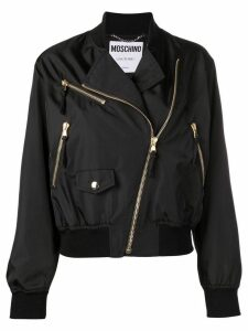 Moschino logo bomber jacket - Black