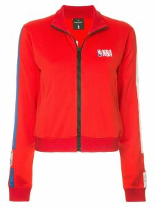 Marcelo Burlon County Of Milan cropped track jacket - Red