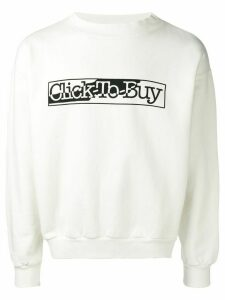 Aries Click To Buy slogan sweatshirt - White