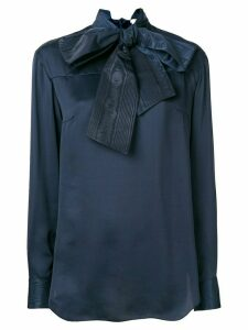 Thom Browne bow detail blouse - Blue