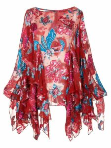 Romance Was Born Xanadu floral blouse - Red