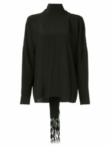 Tibi fringed scarf blouse - Black