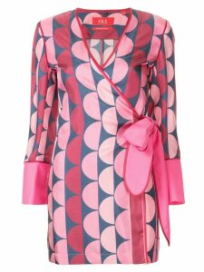 F.R.S For Restless Sleepers Aisa geometric print blouse - Pink