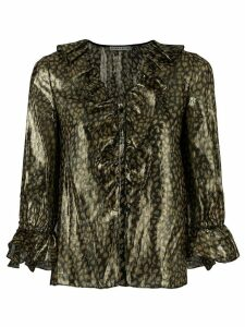 Alice+Olivia frilled blouse - Metallic