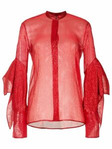 Petar Petrov sheer blouse - Red