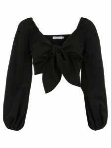 Nk Collection knot cropped blouse - Black