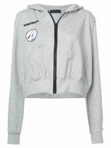 Barbara Bologna frill patch hoodie - Grey