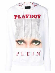 Philipp Plein Philipp Plein X Playboy printed hoodie - White