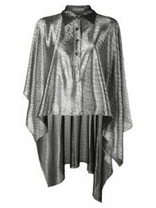 Christopher Kane lamé mesh shirt - Black