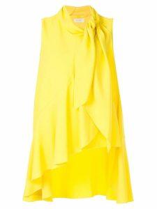 Delpozo asymmetric vest top - Yellow