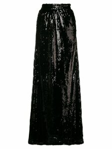 Faith Connexion sequined logo maxi skirt - Black