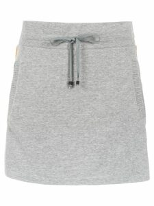 Andrea Bogosian sweatskirt with side stripes - Grey