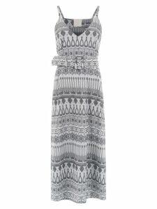 Framed printed midi dress - Silver