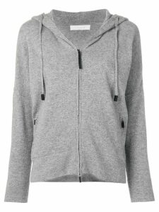 Cruciani zipped hooded sweater - Grey
