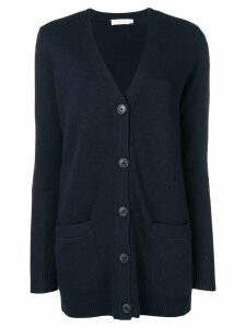 Tory Burch buttoned up cardigan - Blue
