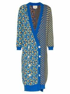 Cap grace long knitted cardigan - Blue