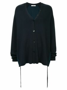Tibi luxe knitted cardigan - Blue