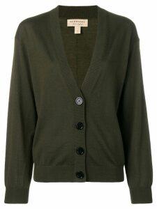 Burberry deep V-neck cardigan - Green